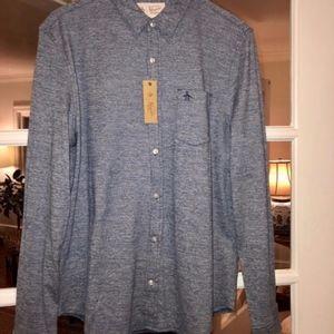 Original Penguin knit cotton dress shirt